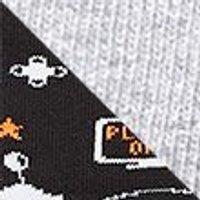 M&S Unisex Boys Girls 5 Pack Cotton Rich Gamer Socks - 6-8+ - Black Mix, Black Mix