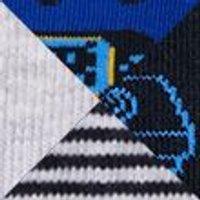 M&S Unisex Boys Girls 5pk Cotton Gamer Socks - 12+3+ - Multi, Multi