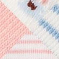 M&S Girls 4pk Cotton Floral & Striped Baby Socks (0-24 Mths) - 0-6 - Light Coral, Light Coral