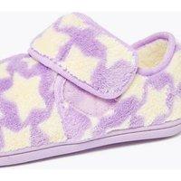 M&S Girls Kids' Star Riptape Slippers (5 Small - 12 Small) - 6 S - Purple Mix, Purple Mix