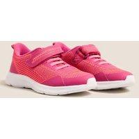 M&S Girls Kids' Freshfeettm Riptape Trainers (5 Small - 3 Large) - Pink, Pink
