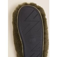 M&S Boys Kids' Slip-on Monster Slippers (13 Small - 7 Large) - Green Mix, Green Mix