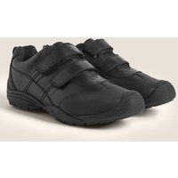M&S Boys Kids' Leather Toe Bumper School Shoes (13 Small - 10 Large) - 1 LSTD - Black, Black
