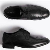 M&S Boys Kids' Leather Freshfeettm Brogues (13 Small - 9 Large) - Black, Black