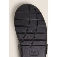 M&S Boys Kids' Leather Riptape Football School Shoes (8 Small - 1 Large) - 8 SNAR - Black, Black