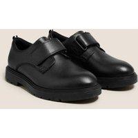 M&S Boys Kids' Leather Riptape School Shoes (13 Small-9 Large) - 13 SSTD - Black, Black