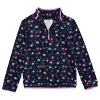 M&S Girls The Floral-Print Recycled Fleece (2-16 Yrs) - 6-7 Y - Navy Mix, Navy Mix