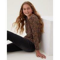 M&S Girls 5pk Cotton Patterned Top (6-16 Yrs) - 6-7 Y - Multi, Multi