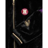 M&S Girls Harry Pottertm Faux Fur Bomber Jacket (2-16 Yrs) - 7-8 Y - Black, Black