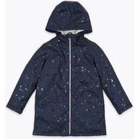 M&S Girls Stormweartm Star Print Fisherman Raincoat (6-16 Yrs) - 7-8 Y - Navy, Navy