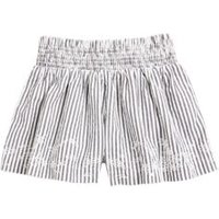M&S Girls Pure Cotton Striped Shorts (6-16 Yrs) - 6-7 Y - Black Mix, Black Mix