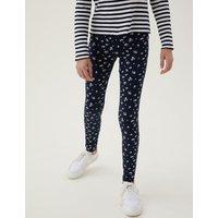 M&S Girls 5pk Cotton Patterned Leggings (6-16 Yrs) - 7-8 Y - Multi, Multi