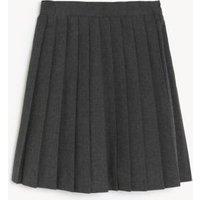MandS Girls Girls Adaptive School Skirt - 10-11 - Grey, Grey,Black