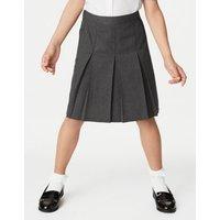 M&S Girls Girls' Permanent Pleats School Skirt (2-16 Yrs) - 6-7 Y - Grey, Grey,Black,Brown,Green,Nav