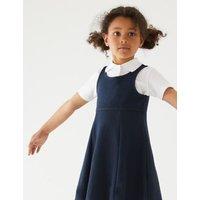 M&S Girls 2pk Girls' Cotton School Pinafores (2-12 Yrs) - 11-12 - Navy, Navy