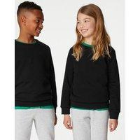M&S Unisex Boys Girls Unisex Regular Fit School Sweatshirt (3-16 Yrs) - 3-4 Y - Black, Black,Navy