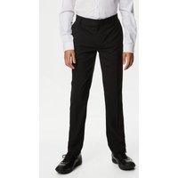 M&S Boys Boys' Slim Leg Longer Length Trousers (2-18 Yrs) - 2-3 YXL - Black, Black