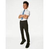 MandS Boys 3pk Boys Adaptive Easy Iron School Shirts - 3-4 Y - White, White