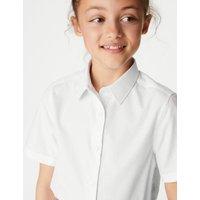 M&S Girls 3pk Girls' Plus Fit Easy Iron School Shirts (4-18 Yrs) - 13-14 - White, White