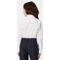 M&S Girls 2pk Girls' Skinny Fit School Shirts (2-18 Yrs) - 14-15 - White, White