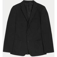 M&S Boys Boys' Slim Fit School Blazer (9-18 Yrs) - 14-15 - Black, Black,Navy