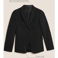 MandS Girls Girls Slim Fit School Blazer (9-16 Yrs) - 14-15 - Black, Black,Navy