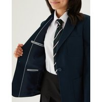 MandS Girls Girls School Blazer (9-16 Yrs) - 10-11 - Navy, Navy,Black