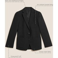 MandS Girls Girls School Blazer (9-16 Yrs) - 14-15 - Black, Black,Navy