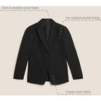 MandS Girls Girls Slim Fit Blazer - 14-15 - Black, Black,Navy