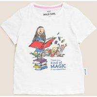 M&S Girls Roald Dahltm Matilda T-Shirt (2-7 Yrs) - 2-3 Y - White, White