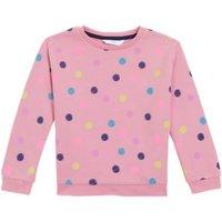 M&S Girls Cotton Spotted Sweatshirt (2-7 Yrs) - 3-4 Y - Pink, Pink