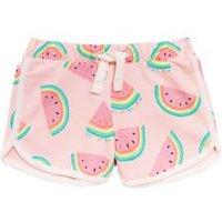 M&S Girls Cotton Melon Print Shorts (2-7 Yrs) - 3-4 Y - Pink Mix, Pink Mix