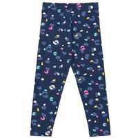 M&S Girls Cotton Leopard Print Leggings (2-7 Yrs) - 3-4 Y - Navy Mix, Navy Mix