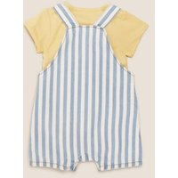 MandS Unisex Boys Girls 2pc Pure Cotton Winnie the Pooh™ Outfit (0-3 Yrs) - 1 M - Multi, Multi
