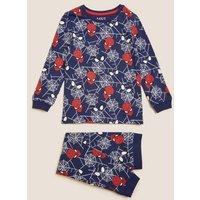 M&S Boys Spider-Mantm Pyjamas (2-8 Yrs) - 3-4 Y - Multi, Multi
