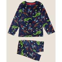 M&S Boys Marvel Superheroestm Velour Pyjamas (3-8 Yrs) - 3-4 Y - Multi, Multi