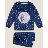 M&S Girls Frozentm Pyjamas (2-10 Yrs) - 7-8 Y - Indigo, Indigo