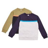 M&S Boys 2pk Adaptive Colour Block Sweatshirts (2-14 Yrs) - 7-8 Y - Multi, Multi