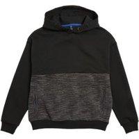M&S Boys Cotton Colourblock Hoodie (6-16 Yrs) - 6-7 Y - Grey, Grey