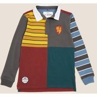 MandS Boys Harry Potter™ Pure Cotton Rugby Top (2-16 Yrs) - 2-3 Y - Multi, Multi