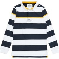 MandS Boys Pure Cotton Striped Rugby Top (6-16 Yrs) - 7-8 Y - Blue Mix, Blue Mix
