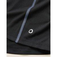 M&S Goodmove Boys Plain Active T-Shirt (6-14 Yrs) - 7-8 Y - Black, Black