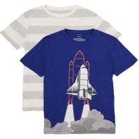 MandS Boys 2pk Adaptive Pure Cotton T-Shirts (2-14 Yrs) - 2-3 Y - Multi, Multi