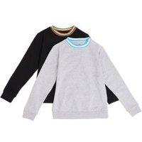 M&S Boys 2pk Adaptive Cotton Sweatshirts (2-16 Yrs) - 2-3 Y - Multi, Multi