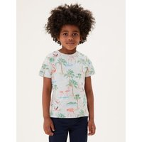 M&S Boys 3pk Cotton Tropical T-Shirts (2-7 Yrs) - 2-3 Y - Multi, Multi