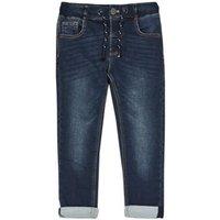 M&S Boys Regular Leg Comfort Stretch Jeans (2-7 Yrs) - 2-3 Y - Dark Denim, Dark Denim