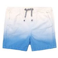 MandS Boys Pure Cotton Dip Dye Rugby Shorts (2-7 Yrs) - 3-4 Y - Blue Mix, Blue Mix