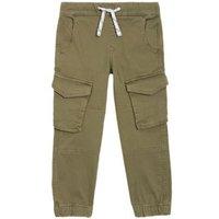 M&S Boys Cotton Cargo Trousers (2-7 Yrs) - 2-3 Y - Khaki, Khaki,Tan,Charcoal