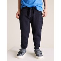 M&S Boys 3pk Cotton Joggers (2-7 Yrs) - 2-3 Y - Navy, Navy