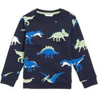M&S Boys Organic Cotton Neon Dinosaur Sweatshirt (2-7 Yrs) - 2-3 Y - Navy, Navy